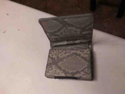 Men's Leather Snake Skin Wallet