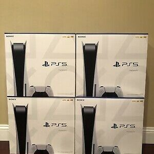 Sony PlayStation 5 PS5 Disc Version Next Gen Console In Hand Brand New