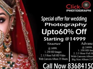 Click-On Photography Upto 60%Off For Wedding