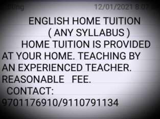 ENGLISH HOME TUITION