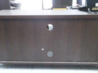 Damro audio tv rack of teak wood brown in colour