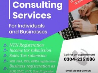 Income Tax Returns, NTN, E-filing, Tax Filer, Trademark & EOBi