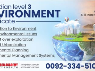 Canadian Level 3 Environment certificate