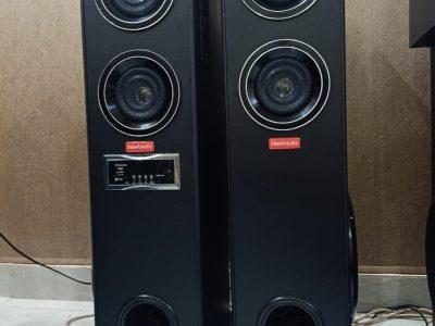 speaker home theater Bluetooth headphones tower wooden woofer