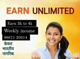 Part-time full-time work earn 4k to 5k weekly income