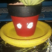 mickey mouse flower pot