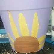 sunflower pot