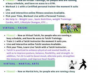 Virtual personal training,  Taichi and , Martial arts