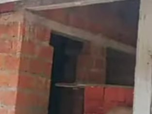 Unfinished cottage for sale at Cheruthuruthi.